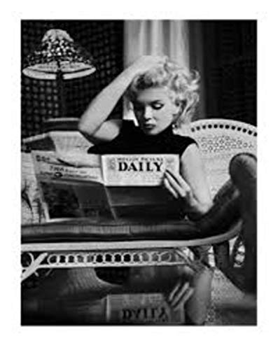 Marilyn Monroe Motion Picture Daily Black and White Photo Poster Thick Cardstock Poster 23.5x31.5 - Marilyn Poster Monroe Card