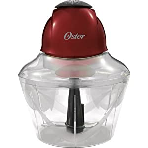 Oster Top Chop 4-Cup Chopper, Red 250 Watts