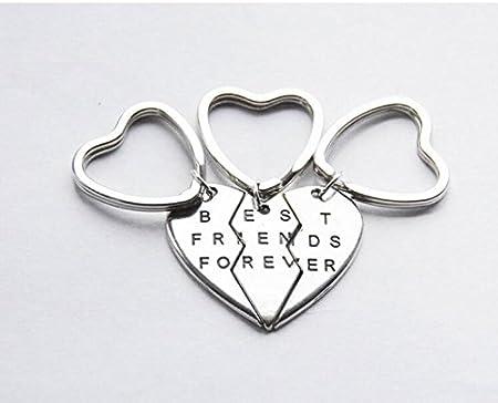 Three Best Friends Keychains 3 Bff Keychains 3 Friendship Key Rings