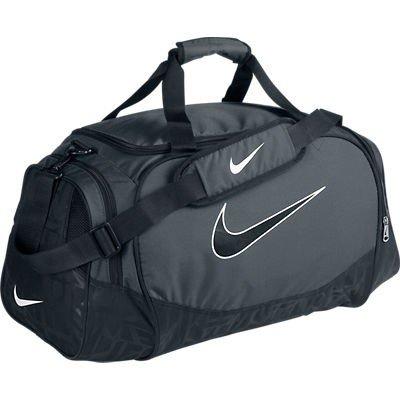 698652694fb7f3 Nike Brasilia 5 Medium Duffel Gym Bag Flint Grey Black Size Medium  (B0052SUE8I)