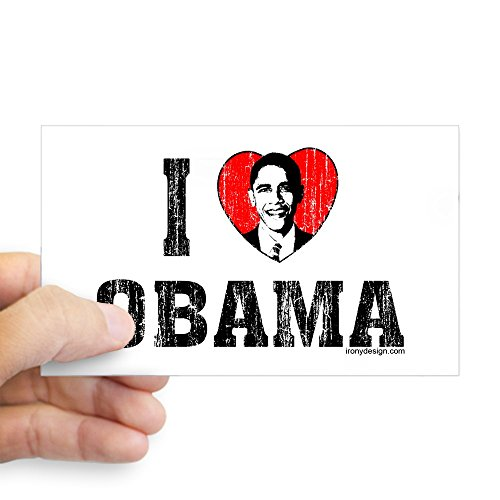CafePress - I Love Obama - Rectangle Bumper Sticker for sale  Delivered anywhere in Canada