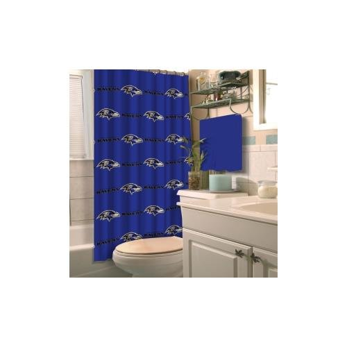 Officially Licensed Nfl Baltimore Ravens Shower Curtain Available In