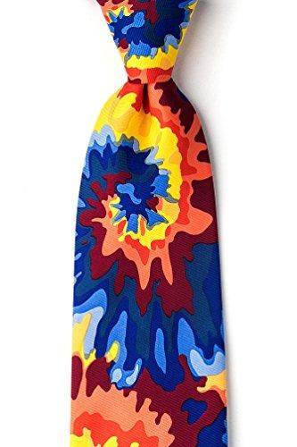 Wild Tie Dye - Far Out Tie-Dye Red Microfiber Tie