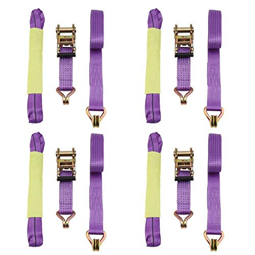 2 Inch Width Recovery Ratchet Alloy Wheel Straps Durable Car Tire Wheel Chains 4 PCS Ratchet Tie Down Straps FGHGFCFFGH