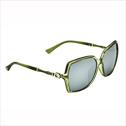 Gafas polarizada de Marco Color Palabra D HOME QZ Luz de 1 4 bambú Rhinestone Gran Moda Sol Conducir Colorido Sección Gafas Mujer qOYw5SO