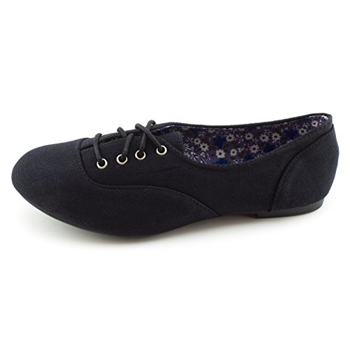 Image of Kali Womens Lace Up Canvas School Dress Shoes (Adults)