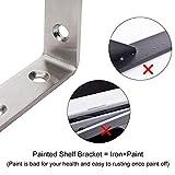 YUMORE Shelf Bracket, Heavy Duty Stainless Steel