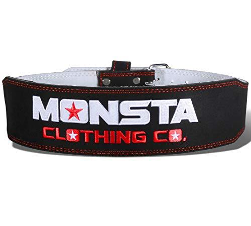 Monsta-Weightlifting-Belt- A-WB-011-BK-RD Small Black