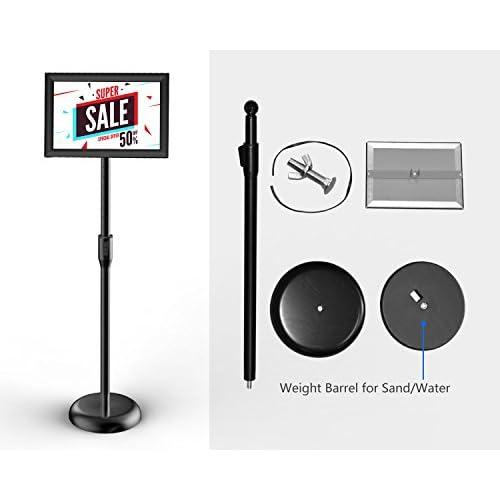 30%OFF Smonet Adjustable Pedestal Sign Holder Floor Stand with ...