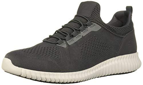 Skechers Men's Cessnock Food Service Shoe, Charcoal, 8.5 M US