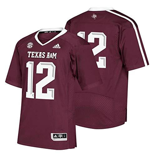 adidas Texas A&M Aggies #12 NCAA Men's Maroon Premier Football Jersey (S)