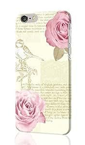 "Bella Script Bird Flower Rose Arthouse 3D Rough iphone 6 -4.7 inches Case Skin, fashion design image custom iPhone 6 - 4.7 inches , durable iphone 6 hard 3D case cover for iphone 6 (4.7""), Case New Design"