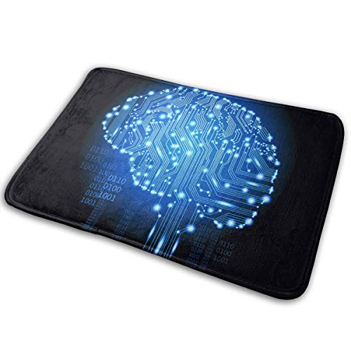 DENETRI DYERHOWARD Bath Mat Brain Circuit Non Slip Bath Rug Washable Bathroom Soft Kitchen Floor Door Mat