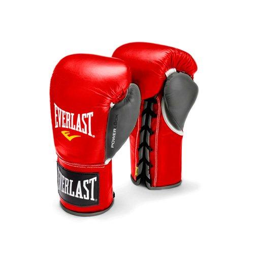 Image of Boxing Gloves Everlast PowerLock Pro Fight Gloves 10oz Red/Gry PowerLock Pro Fight Gloves