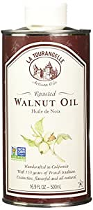 La Tourangelle Roasted Walnut Oil 16.9 Fl. Oz, All-Natural, Artisanal, Great for Salads, Grilled Fish and Meat, or Pasta