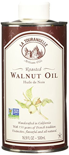 La Tourangelle Roasted Walnut Oil 16.9 Fl. Oz., All-Natural, Artisanal, Great for Salads, Grilled Fish and Meat, or Pasta ()