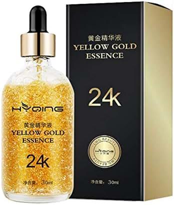 24K Gold Serum, Yiitay Face Serum Face Essence Anti-aging Anti Wrinkle Facial Serum Promote Metabolism, Whitening & Moisturizing for Women Face Skin Care - 1 fl oz/30ml (A1)