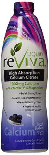 (Liquid Reviva ® Calcium 1000 Mg Twin Pack 2 X 32 Ounce Smooth Blueberry)