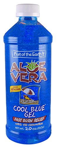 Fruit of the Earth Aloe Vera Gel - Cool Blue - 20 Ounce