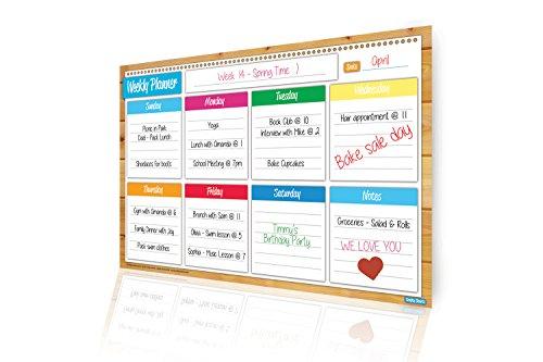 Magnetic Weekly Planner  Flexible Dry Erase Board  Bonus Organizer Printables