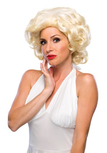[Rubie's Costume Deluxe Blond Starlet Wig, Yellow, One Size] (Marilyn Monroe Deluxe Adult Costumes)
