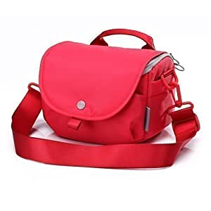 Stylish Camera Bags Women Compact Shoulder Messenger Bag Canon Best Mirrorless Dslr/Slr Interior Bag Waterproof Purse Case Accessory for Fuji Nikon Sony (S, Rose)