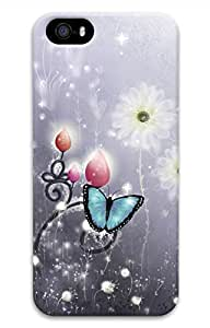 Dream Of The Butterfly Customized Popular DIY Hard Back Case Cover For iPhone 5S 3D