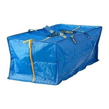 Tronco Frakta para carrito, azul, Longitud: 73cm Profundidad: 35cm, altura: 30cm, capacidad de carga: 25kg Volumen: 76L, se puede llevar en la mano, la espalda., azul, Paquete de 2