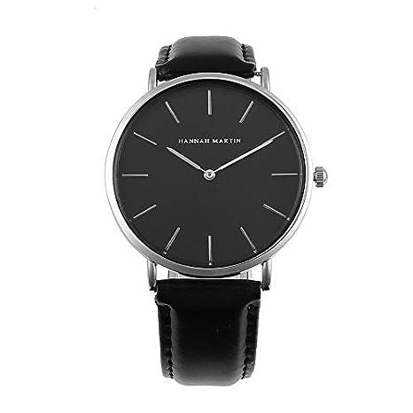 278d47ff072d HermosaUKnight Moda para Hombre para Mujer Reloj de Cuarzo Hannah Martin  CH02 Reloj de Pulsera Unisex Reloj Deportivo Informal Diseño Simple Reloj  de ...