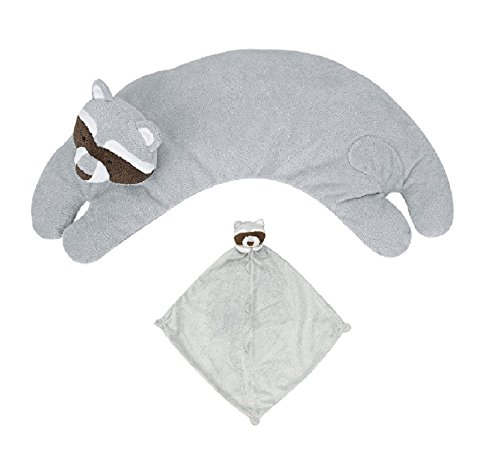 Angel Dear Blankie and Curved Pillow Raccoon Set ()
