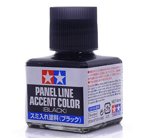 TAMIYA 87131 Panel Line Accent Color Black For Plastic Model ()