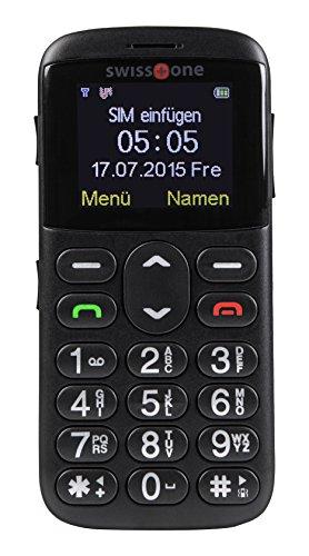 swisstone BBM 505 - GSM Mobiltelefon mit extra großem beleuchtetem Farbdisplay, schwarz