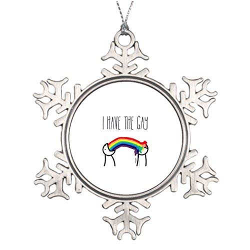 ances Lincoln Ideas for Decorating Christmas Trees I Have The Gay Meme Halloween Snowflake Ornaments Tree Decor