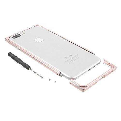 Screw Lock Aluminium Alloy Plated Bumper Phone Tasche Hüllen Schutzhülle Case für iPhone 7 Plus 5.5 inch - Rose Gold