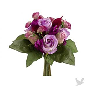 "11.5"" Rose/Calla Lily Bouquet Lavender Orchid (Pack of 6)"