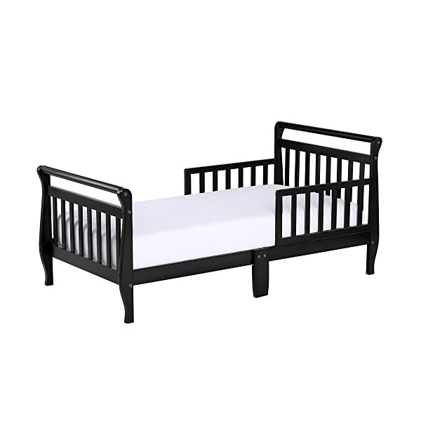 Dream On Me Classic Sleigh Toddler Bed - Black 3