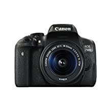 Canon EOS 750D/T6i Digital SLR Camera (24.2 MP, 18 - 55 mm Lens, CMOS Sensor) 3-Inch LCD - 0592C021AA
