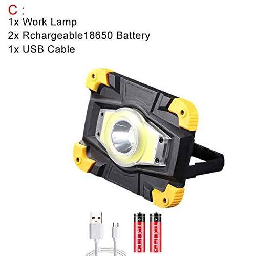 100W Lampe Led Cob Proyector portátil 10000Lm Camp Lamp Linterna ...