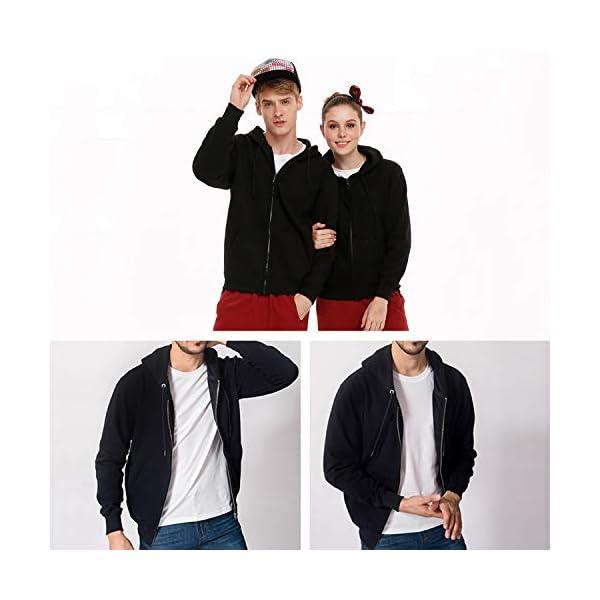 Gaga.idol.Type hoodies Mens Warm Sweatshirt Sherpa Lined Basic Hooded Cotton Fleece Slim Hoodie Jacket 6