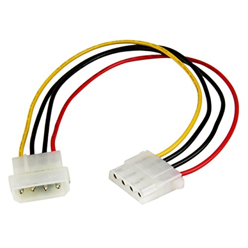 12in Molex LP4 Power Extension Cable M/F - 4 pin Molex Power Connector - 4 pin Power Extension Cable - LP4 Power Cable