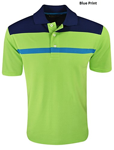 Price comparison product image New Brooks Brothers- Thin Stripe Colorblock Pique Polo Blue Print Size Extra Lrg