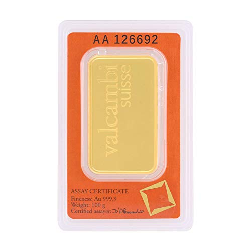 Malabar Gold and Diamonds Valcambi Suisse 999.9 Purity 100 Gms Gold Bar – MGVS999P100G