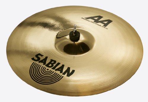 Aa Thin Crash Cymbal (Sabian 18 Inch AA Medium-Thin Crash Cymbal Brilliant Finish)