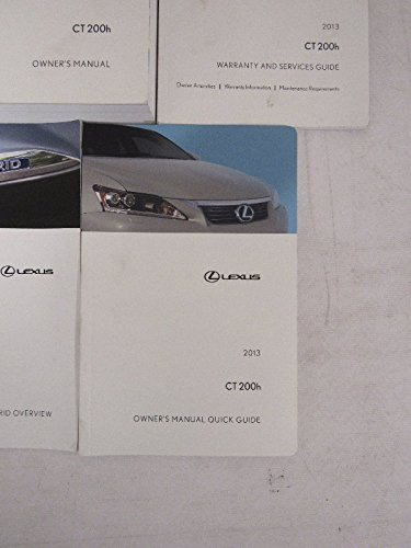 2013 lexus ct 200h owners manual guide book toyota motor co rh amazon com lexus ct200h owners manual pdf 2016 ct200h owners manual