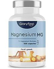Premium Magnesiumcitraat - Vergelijking Winnaar 2020* - 200 veganistische capsules - 2400mg magnesiumcitraat (360mg elemntarisch magnesium) per dagdosis - Laboratorium getest zonder in Duitsland geproduceerde additieven