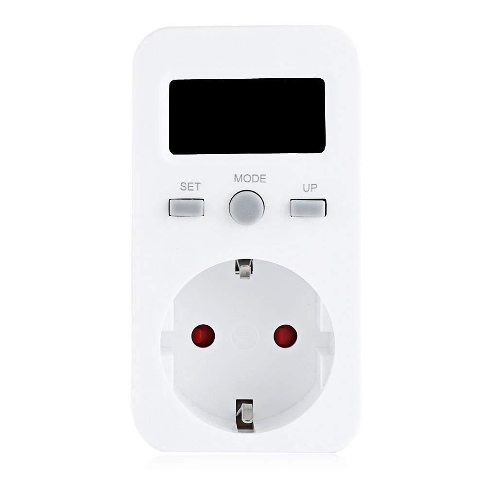 TOOGOO Eu Plug Plug-In Num/éRique Wattm/èTre Lcd Moniteur D/éNergie Compteur de Puissance /éLectricit/é Electrique Swr M/èTre Surveillance de LUtilisation Du Compteur Prise Eu