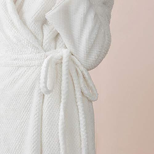 Bata Casual Inicio Unisex Coral Lujo Cardigan Baño Solapa Women Engrosamiento Toalla Franela tamaño Cinturón De Pijamas Terciopelo Xl Albornoz Sdwgq11