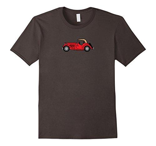 Men's MGTD MG TD Red British Classic Sportscar T-shirt Large Asphalt