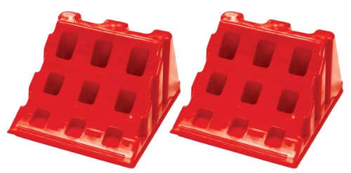 Chock Quick (QC-2) Red Lynx Style Interlocking Wheel Chock, (Pack of 2)