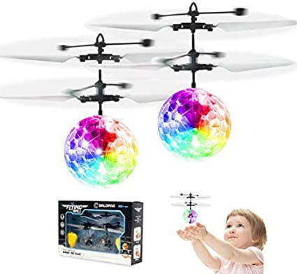 Soccer Toys Remote Control Helicopter Indoor Outdoor Toys for 5 6 7 8 9 10 11 Year Old Kids Mini Drone Light Up Toy for Kid Christmas Gift 2 Pack Flying Ball Kid Toys for Boy 5 6 Years Old Gift